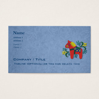 Scandinavian Dala Horse Business Business Card