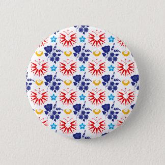 Scandinavian Ditsy 6 Cm Round Badge