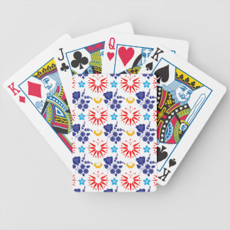 Scandinavian Ditsy Bicycle Playing Cards