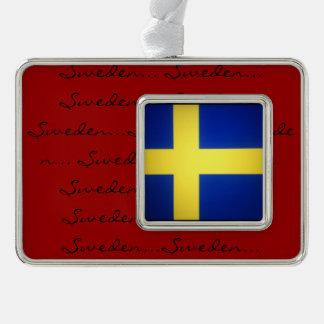 Scandinavian Flags Silver Plated Framed Ornament