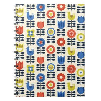 Scandinavian Floral Spiral Notebook Journal