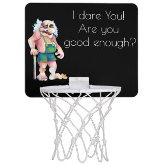 Scandinavian Funny Looking Ogre Troll Mini Basketball Hoop