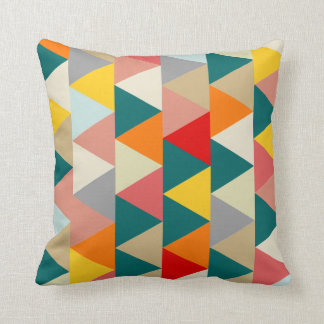 Scandinavian Geometric Triangle Throw Pillow