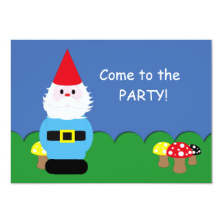 Scandinavian Gnome Customisable Party Card