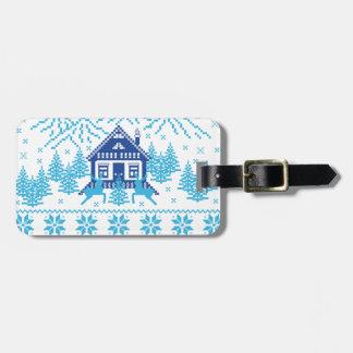 Scandinavian Holiday Design Luggage Tag