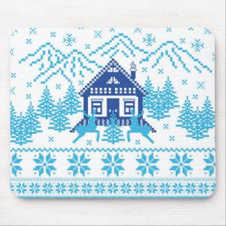 Scandinavian Holiday Design Mouse Pad