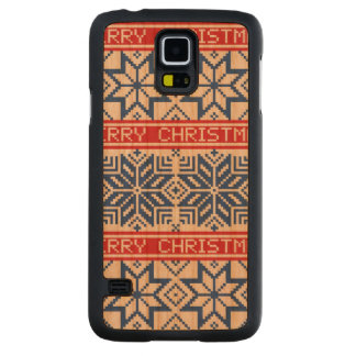 Scandinavian Merry Christmas Carved Cherry Galaxy S5 Case