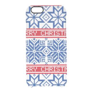 Scandinavian Merry Christmas Clear iPhone 6/6S Case