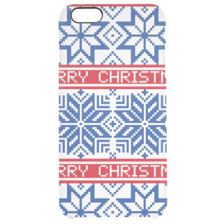 Scandinavian Merry Christmas Clear iPhone 6 Plus Case