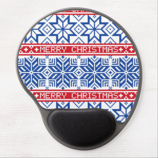 Scandinavian Merry Christmas Gel Mouse Pad