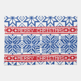 Scandinavian Merry Christmas Hand Towels