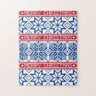 Scandinavian Merry Christmas Jigsaw Puzzle