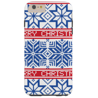 Scandinavian Merry Christmas Tough iPhone 6 Plus Case