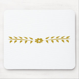 Scandinavian Motif Floral Cute Simple Vintage Mouse Pad