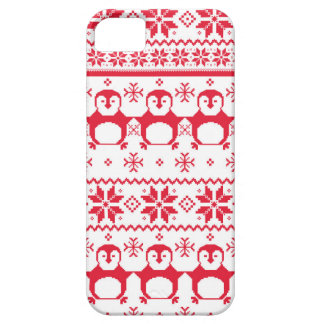 Scandinavian Penguin Holiday Design Barely There iPhone 5 Case