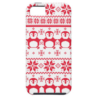 Scandinavian Penguin Holiday Design iPhone 5 Covers