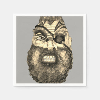 Scandinavian Scary Viking Paper Napkin