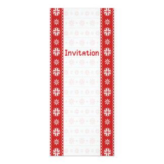 Scandinavian style 10 cm x 24 cm invitation card