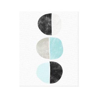 Scandinavian style geometric canvas print