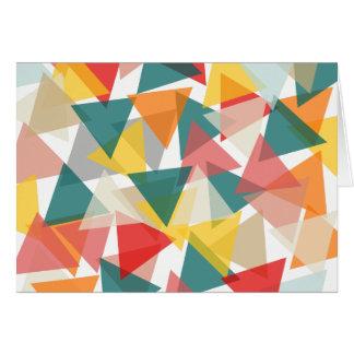 Scandinavian Style Geometric Chaos Card