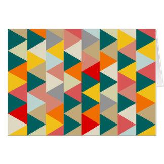 Scandinavian Style Geometric Triangles Card