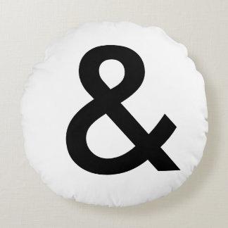 Scandinavian Style - Large Black Ampersand Round Cushion