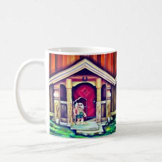 Scandinavian traditional troll painting coffee mug