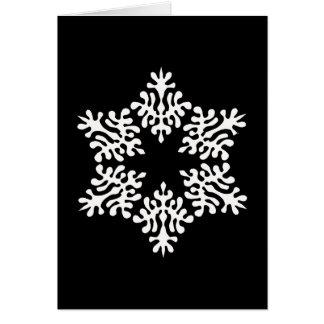 Scandinavian White Christmas Snowflake Card