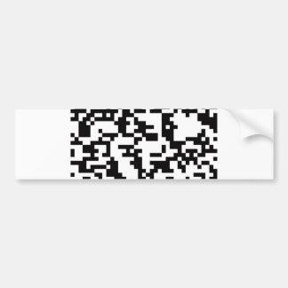 Scannable QR Bar code Bumper Sticker