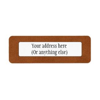 Scanned Detailed Kraft Paper Texture Burnt Sienna Return Address Label