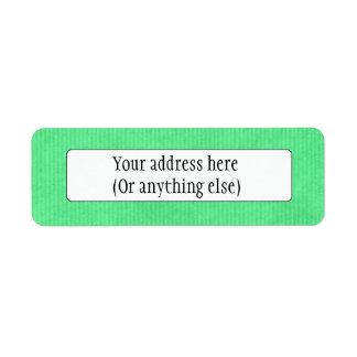 Scanned Detailed Kraft Paper Texture Emerald Green Return Address Label