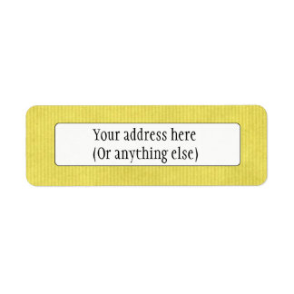 Scanned Detailed Kraft Paper Texture Lemon Yellow Return Address Label