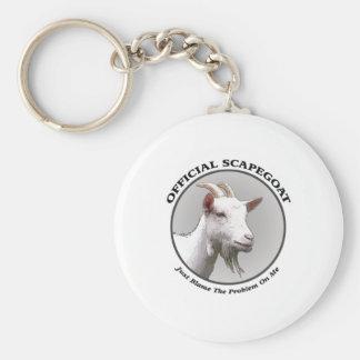 scapegoat basic round button key ring