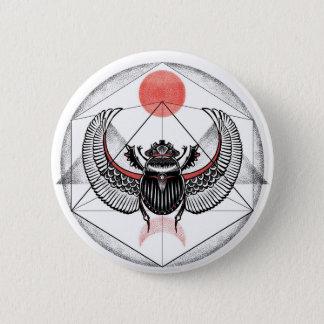 Scarab 6 Cm Round Badge