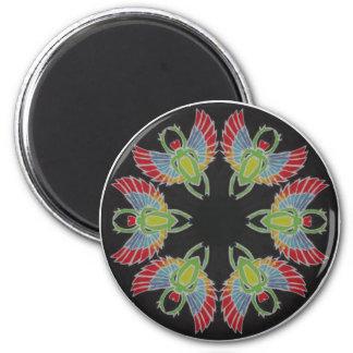 Scarab Batik Mandala 6 Cm Round Magnet