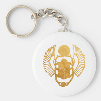 Scarab Egypt. Egyptian Winged Scarab Beetle. Key Ring