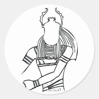 Scarab Pharaoh 1 Classic Round Sticker
