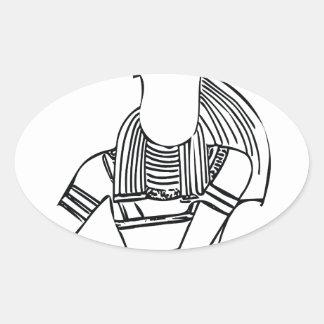 Scarab Pharaoh 1 Oval Sticker