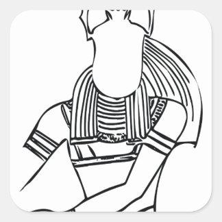 Scarab Pharaoh 1 Square Sticker