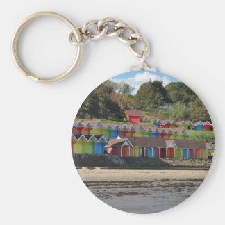 Scarborough Beach Huts Basic Round Button Key Ring