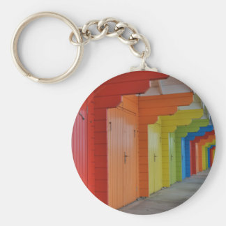 Scarborough Beach Huts III Keychain