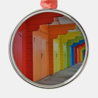 Scarborough Beach Huts III Ornament