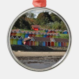 Scarborough Beach Huts Metal Ornament