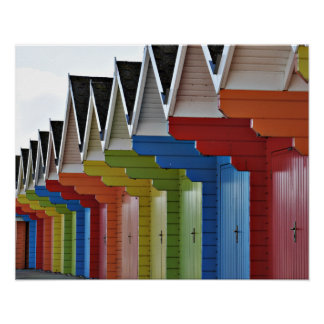 Scarborough Beach Huts Poster