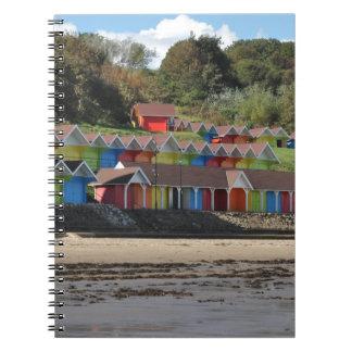 Scarborough Beach Huts Spiral Notebook