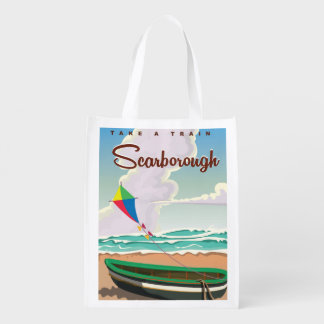 Scarborough beach travel poster