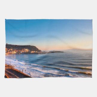 Scarborough Coastline Tea Towel