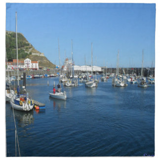 Scarborough harbour napkin