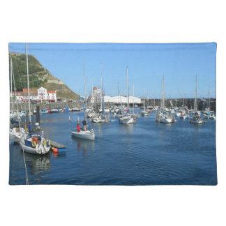 Scarborough harbour placemat