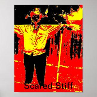 Scare Crow Stiff Posters